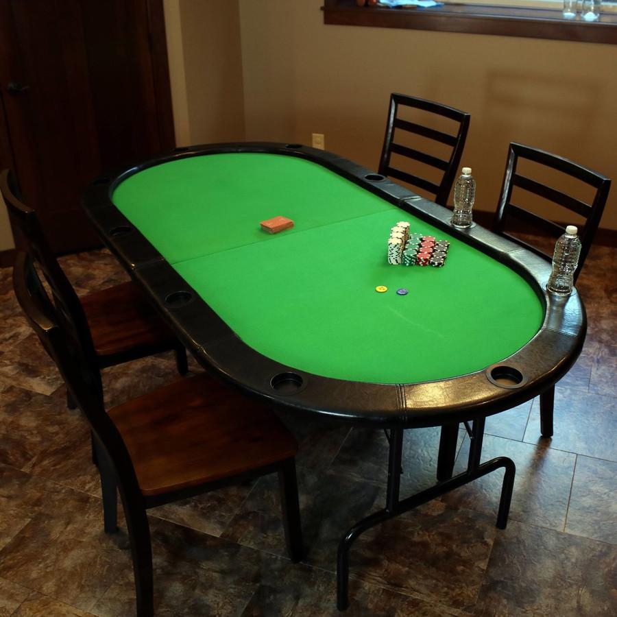 Folding Oval Poker Table