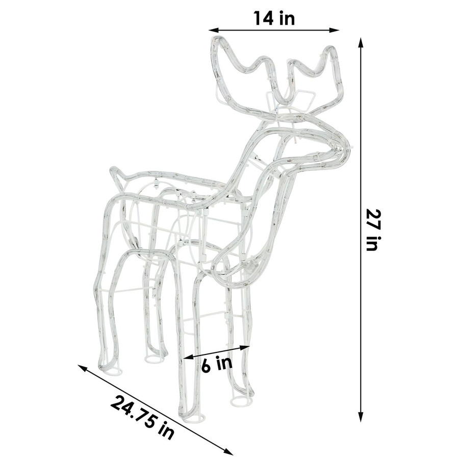 Dimensions of Deer LED Light Display
