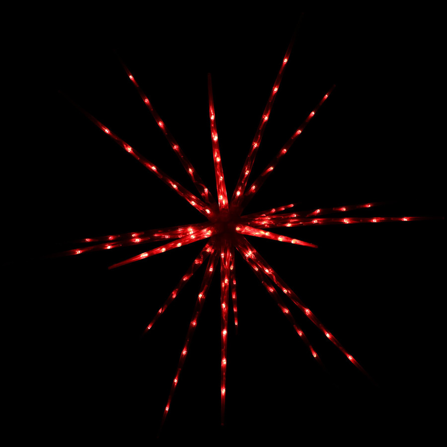 Prelit Color-Changing Christmas Holiday Hanging LED Starburst, Red