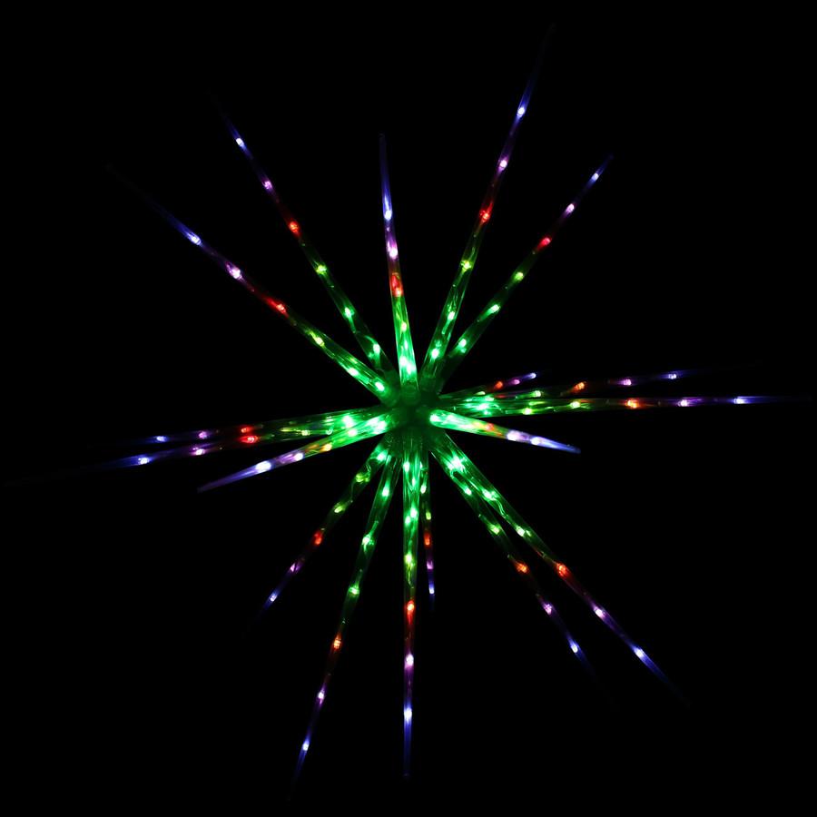 Prelit Color-Changing Christmas Holiday Hanging LED Starburst, Colorburst