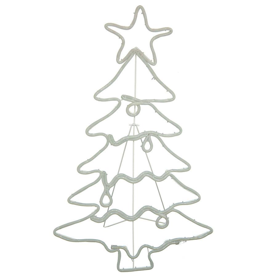 LED Rope Light Christmas Tree Decoration, Lights Off
