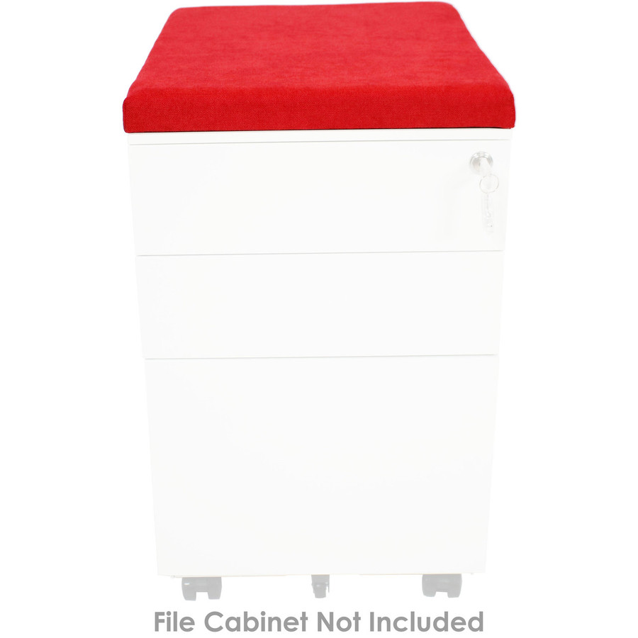 Red File Cabinet Cushion (Cabinet not included.)