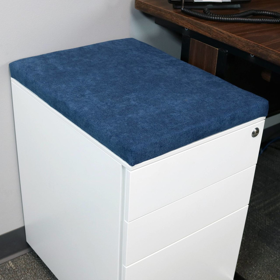 Blue File Cabinet Cushion (Cabinet not included.)