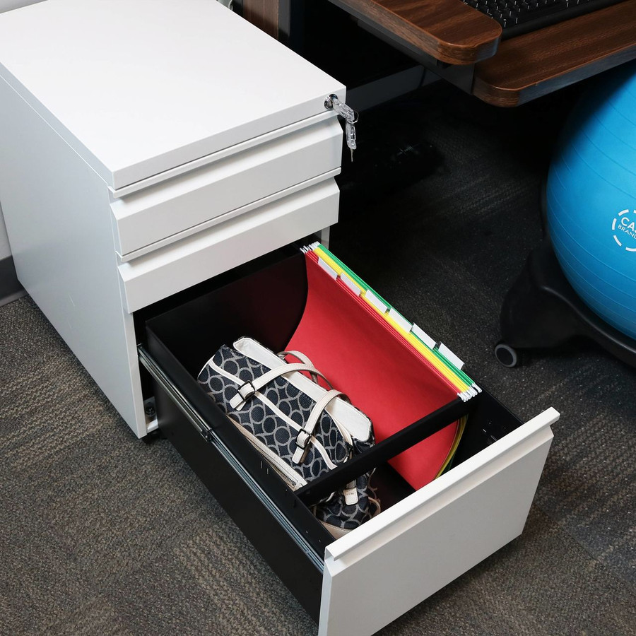 Closeup of Open Bottom Drawer with Legal Hanging File Folders