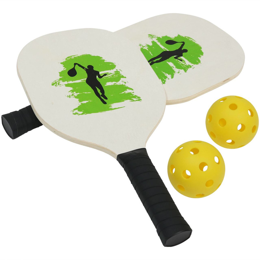 Pickleball Starter Kit with Two Paddles and Two Pickleballs