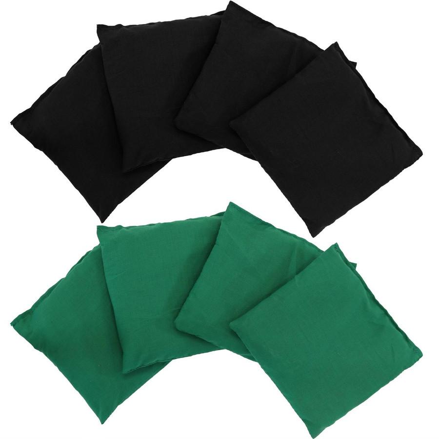 Green and Black Cornhole Bean Bags