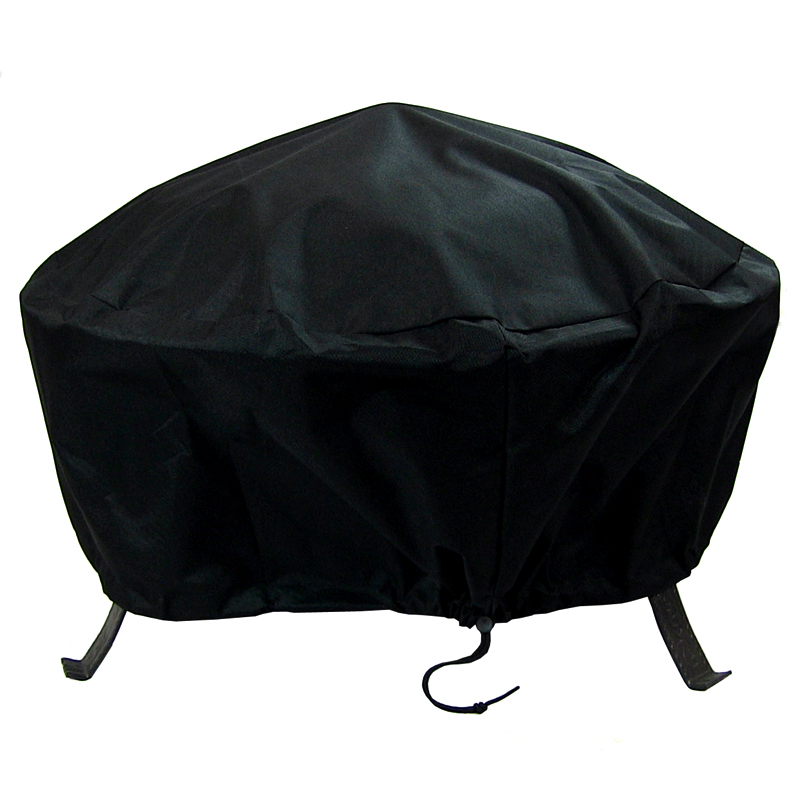 Sunnydaze Round Black Fire Pit Cover, Size Options Available   Fire Pits  & Outdoor Heating - Sunnydaze Round Black Fire Pit Cover, Size Options Available Fire