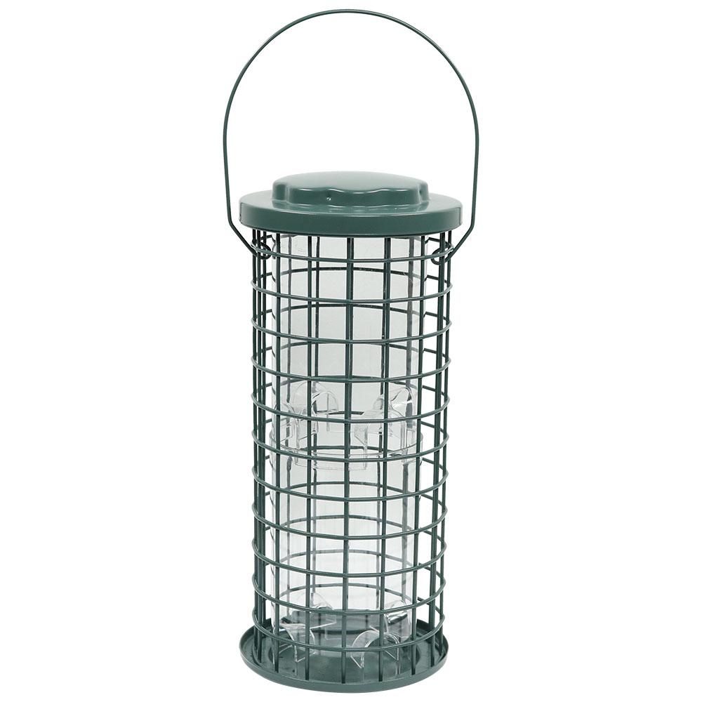 Sunnydaze Green Wire Birdfeeder with Inner Plastic Tube