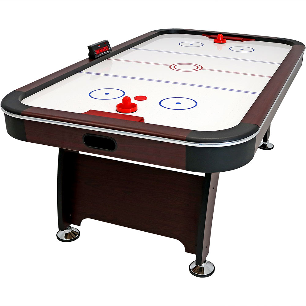 Sunnydaze 7 Foot Air Hockey Table With Scorer Game Tables