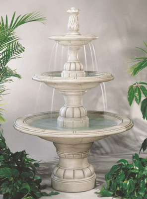 Large Contemporary Tier Cast Stone Fountain By Henri