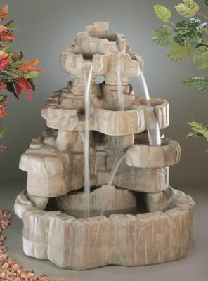 Henri Studio Rock Falls Fountain Cast Stone 58