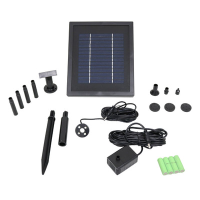 Sunnydaze Solar Pump And Solar Panel Kit With Battery Pack