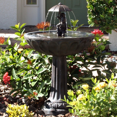 Smart Solar Boy amp Girl Piggyback Fountain ndash Outdoor