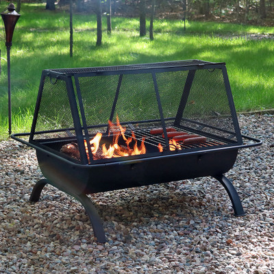Sunnydaze Northland Grill Fire Pit Amp Protective Cover