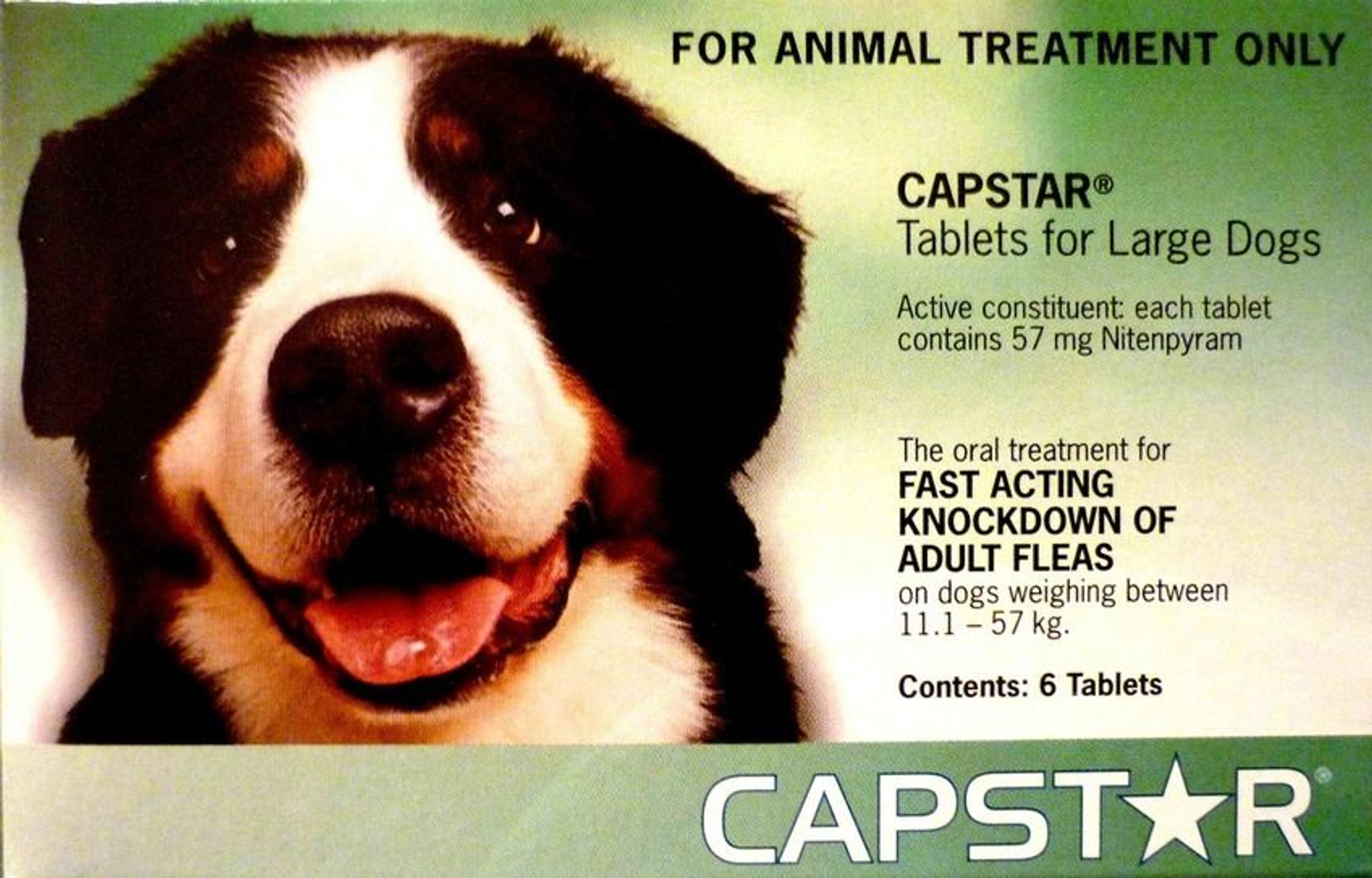 Capstar Flea Tablets For Dogs 11 1 57kg 6 Tablets