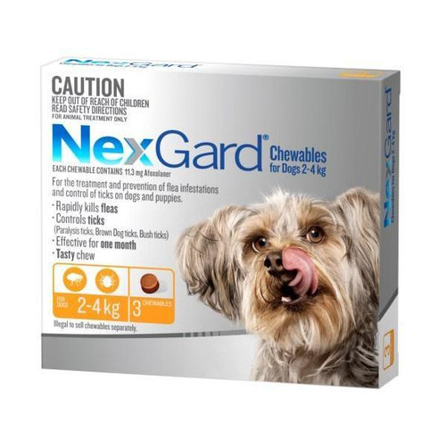 NexGard for Dogs 2-4kg - Orange 3 Pack