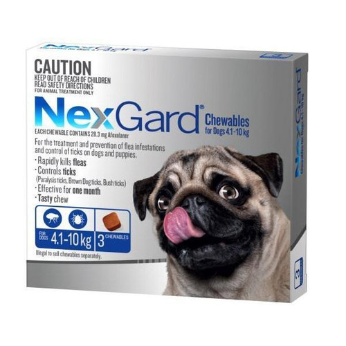 NexGard for Dogs 4.1-10kg - Blue 3 Pack