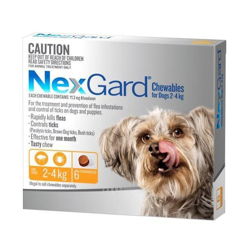 NexGard for Dogs 2-4kg - Orange 6 Pack