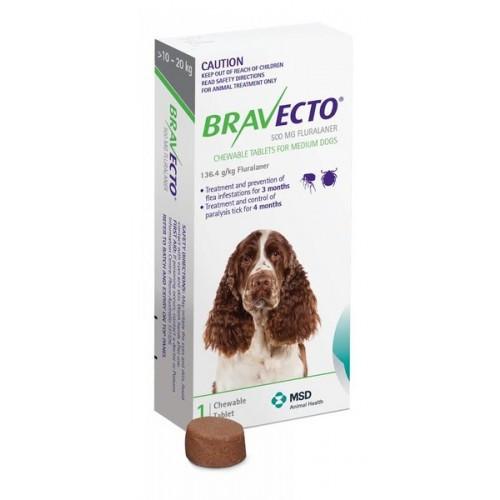 Bravecto for Medium Dogs 10 - 20kgs (1 single chew)
