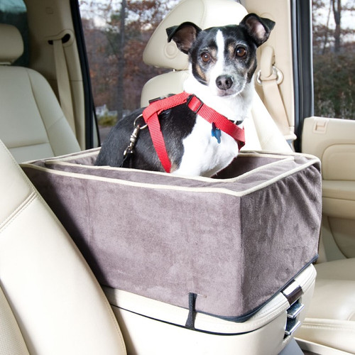 Center Console Dog Car Seat With Microfiber