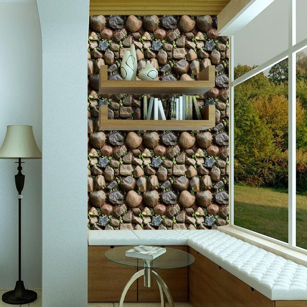 Antique Stone Self Adhesive Wallpaper Waterproof Stone Wallpapers