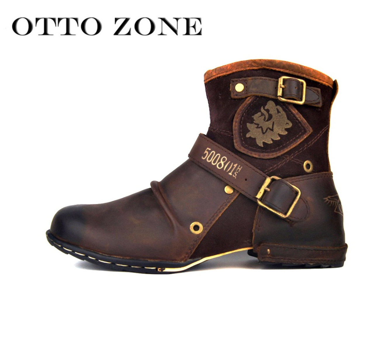 Autumn And Winter Men High top Plus Cashmere Martin Boots Leather Lace Boots Fashion Motorcycle Men B077SR47QH