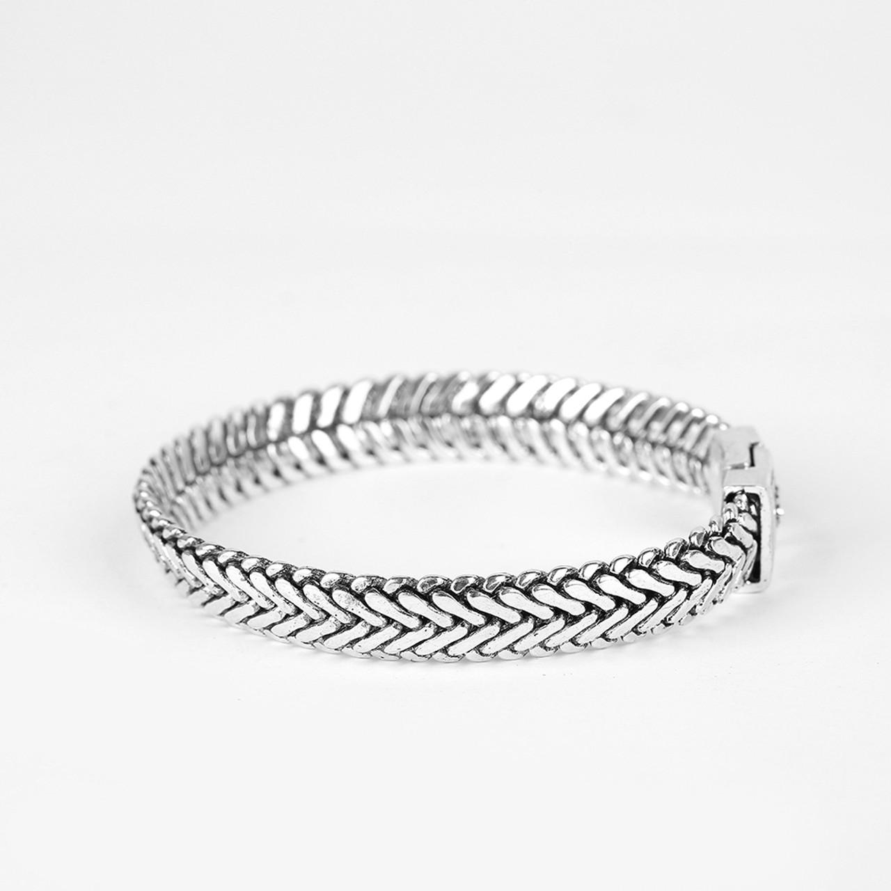 Ancient Silver Fashion Punk Buddha Bracelet for Women DIY ...