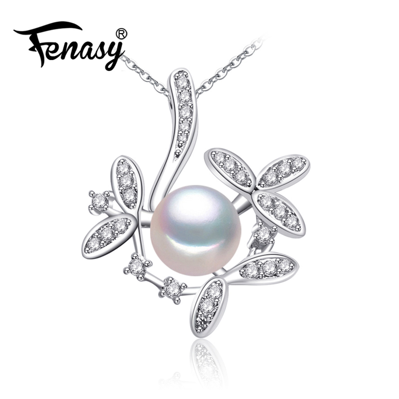 Fenasy bohemian ruby necklace pearl jewelry necklaces amp pendants fenasy bohemian ruby necklace pearl jewelry necklaces amp pendants flower jewelrynecklace women 925 aloadofball Choice Image