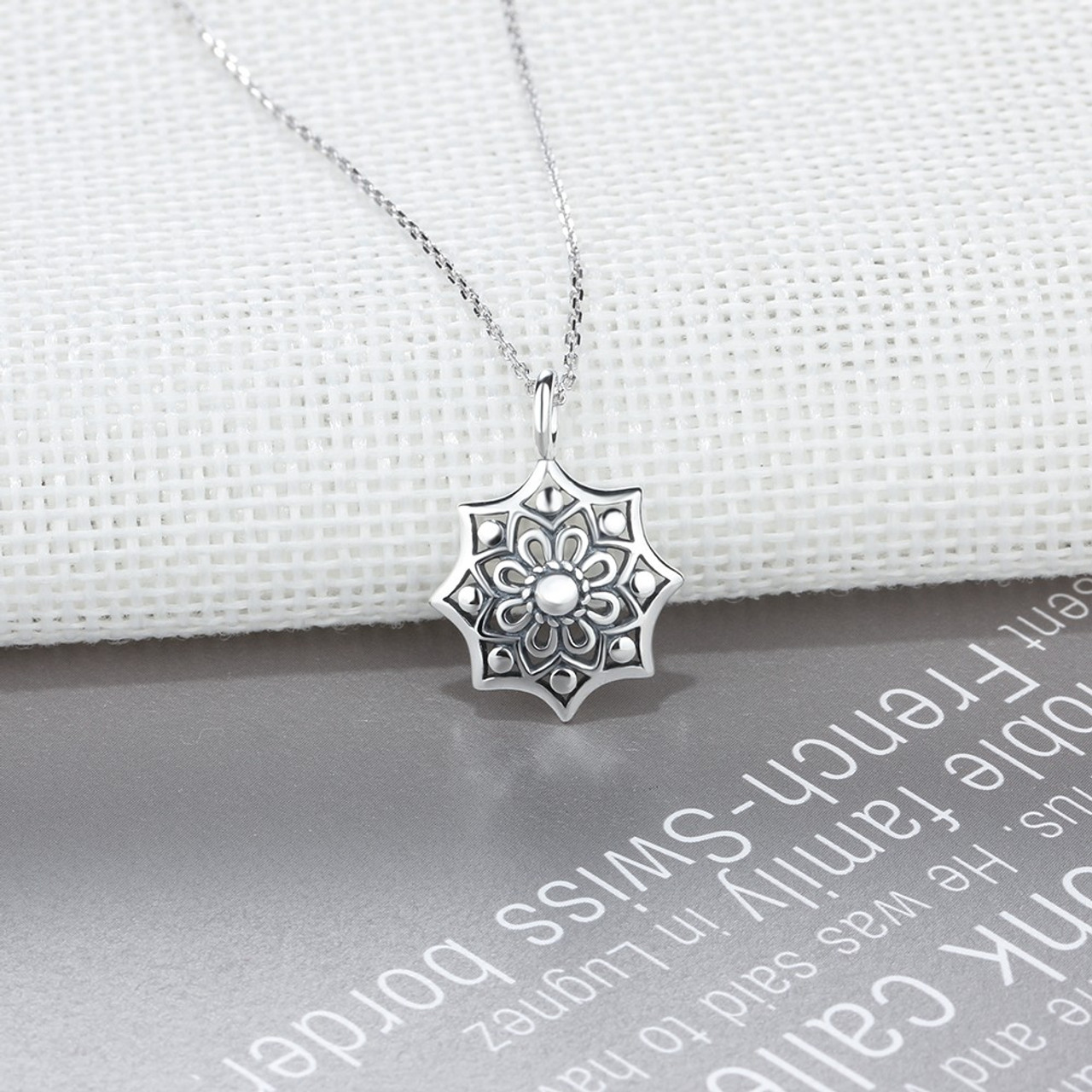 Vintage flower 925 sterling silver necklaces amp pendants punk vintage flower 925 sterling silver necklaces amp pendants punk women fine jewelry birthday gift for aloadofball Images