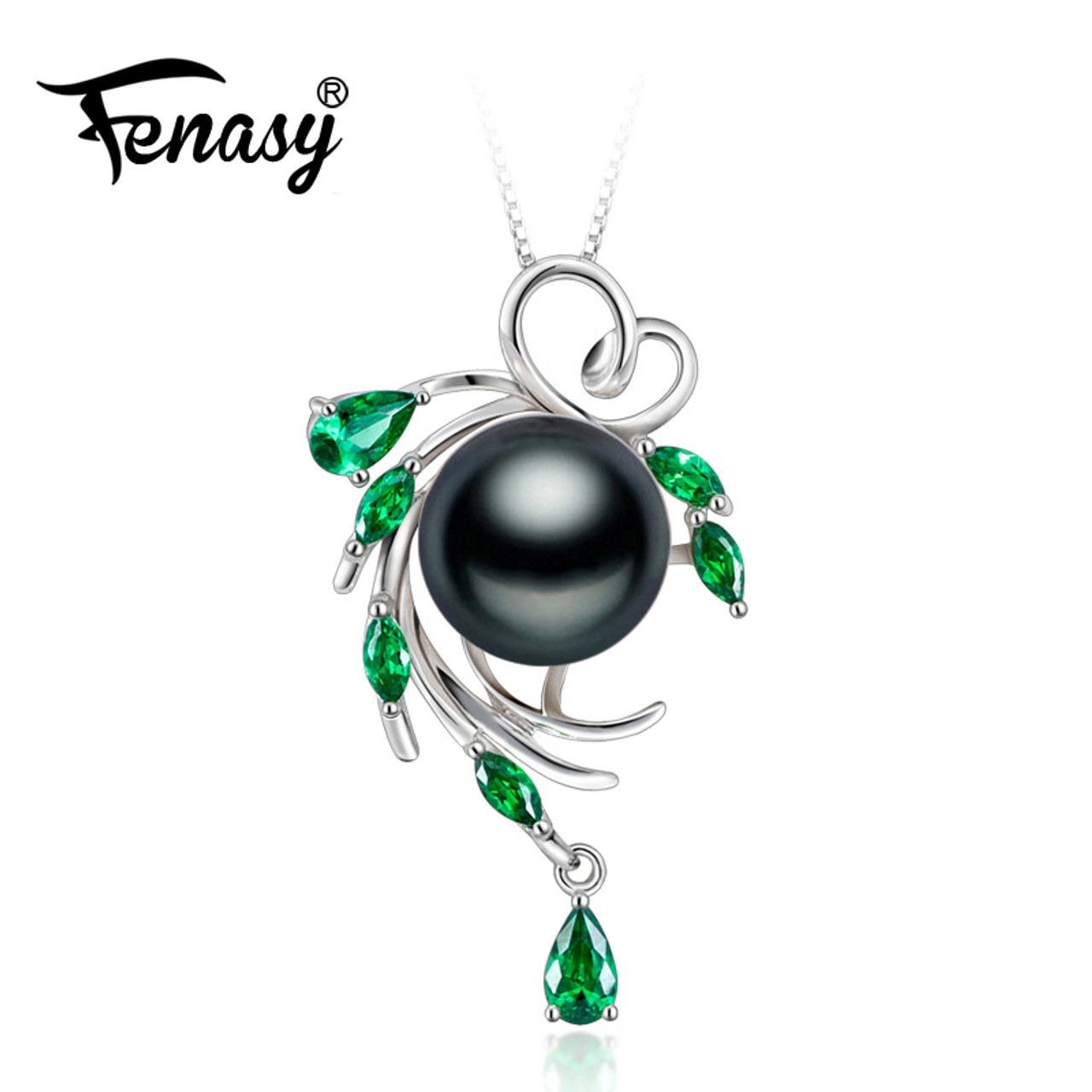 Fenasy 925 sterling silver flower necklacepearl jewelry bohemia fenasy 925 sterling silver flower necklacepearl jewelry bohemia necklacepearl pendant necklace for mozeypictures Image collections