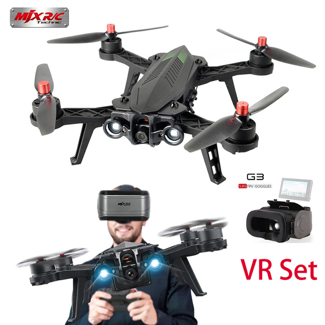 RC Helicopters MJX Bugs 6 B6 58G FPV VR Drone Kit 720P Camera Motor Brushless