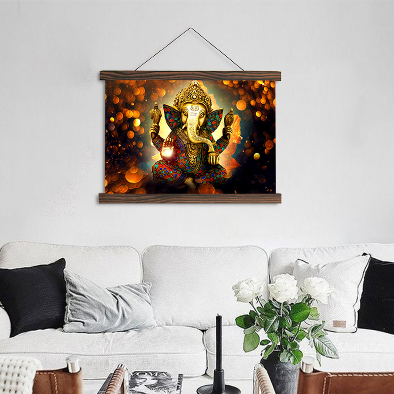 Scroll painting modern wall art hanging canvas painting The Hindu ...