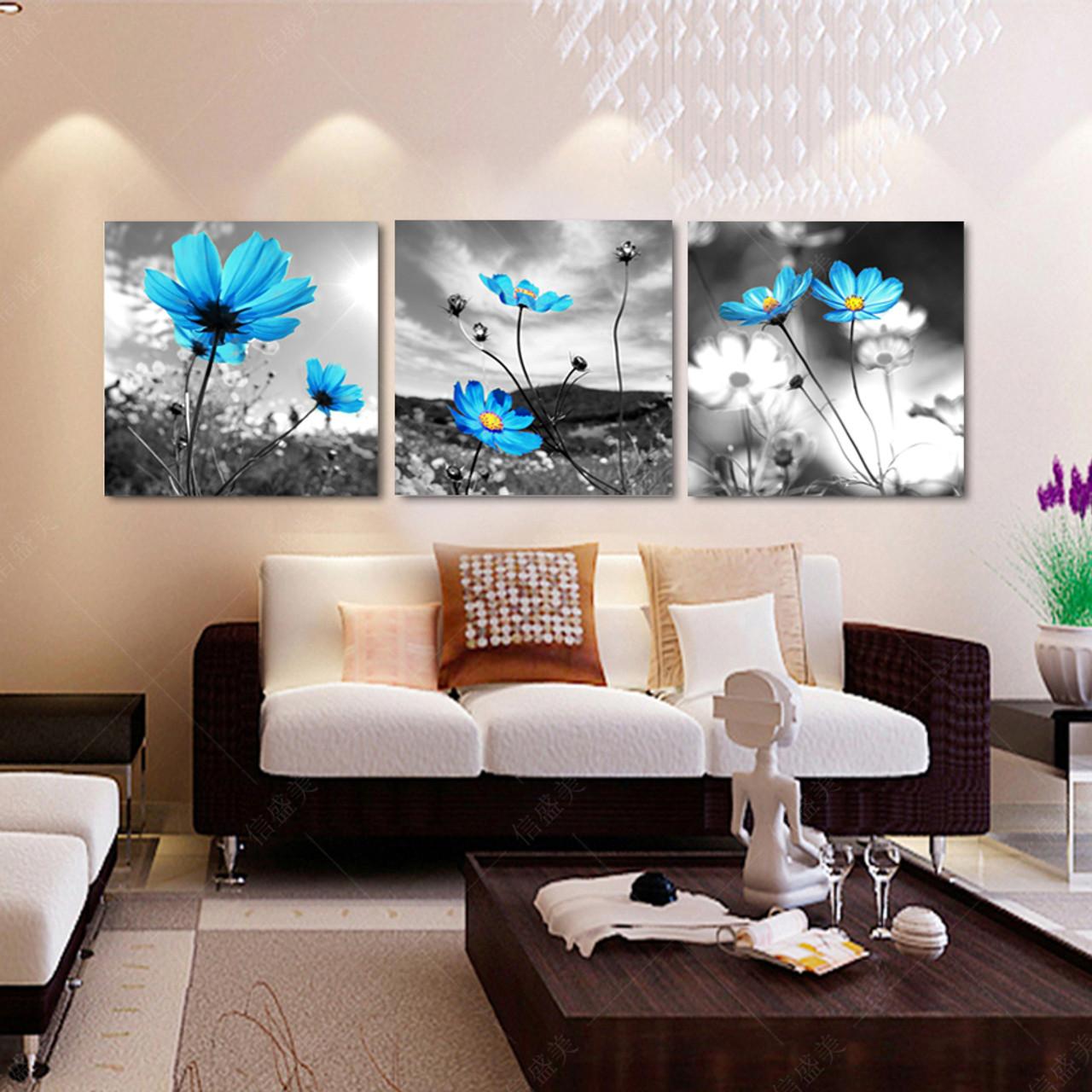 3 Piece Hd Print Canvas Modern Schilderij Flowers Oil Paintings ...