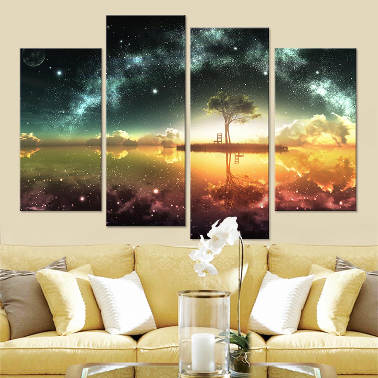 Space Ocean Canvas Set Wall Art Canvas Paintings Wall Modular ...