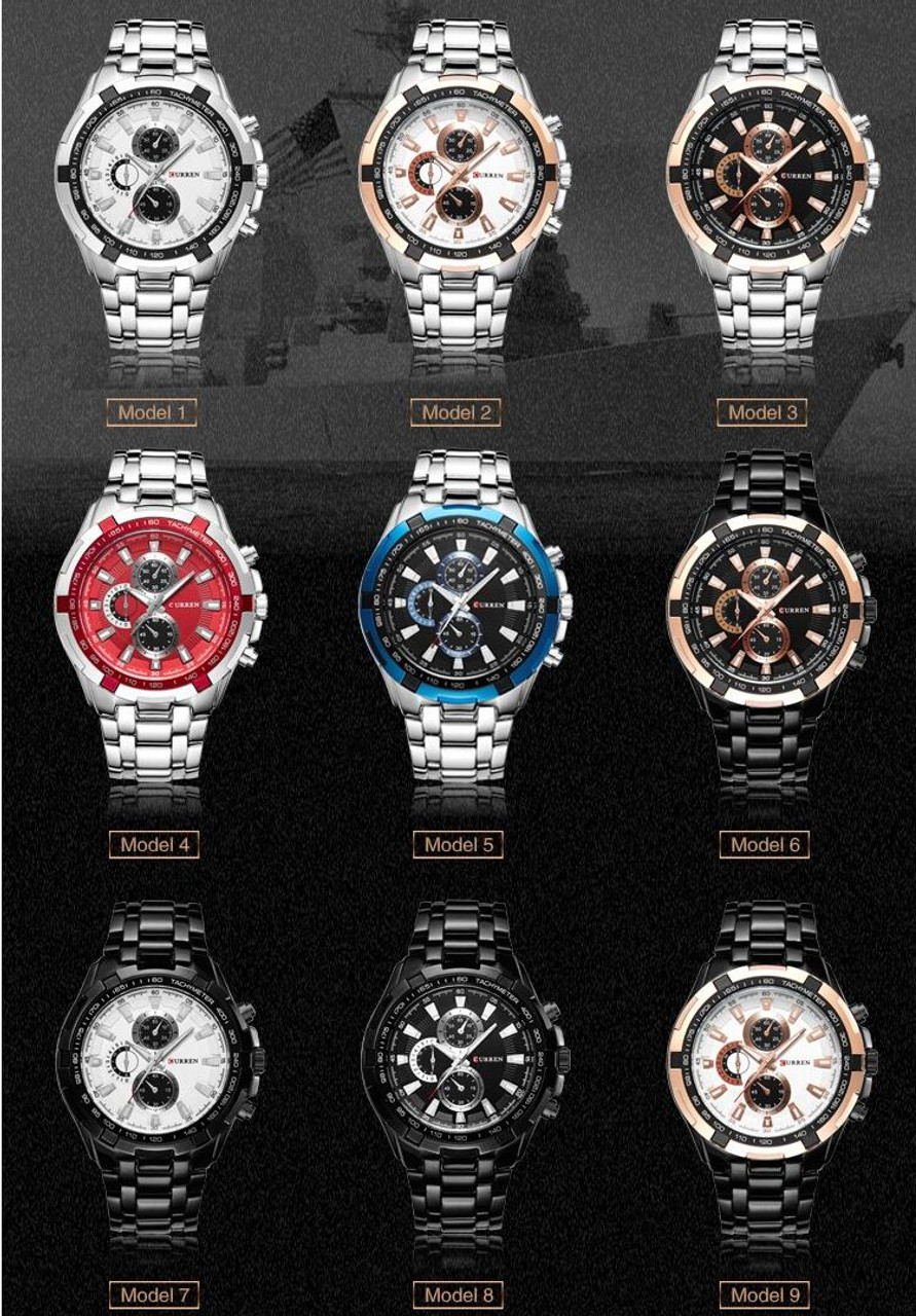 luxury casual watches milanese watch chronograph mesh classic minimalist waterproof products multifunctions band men business black quartz steel wrist stainless