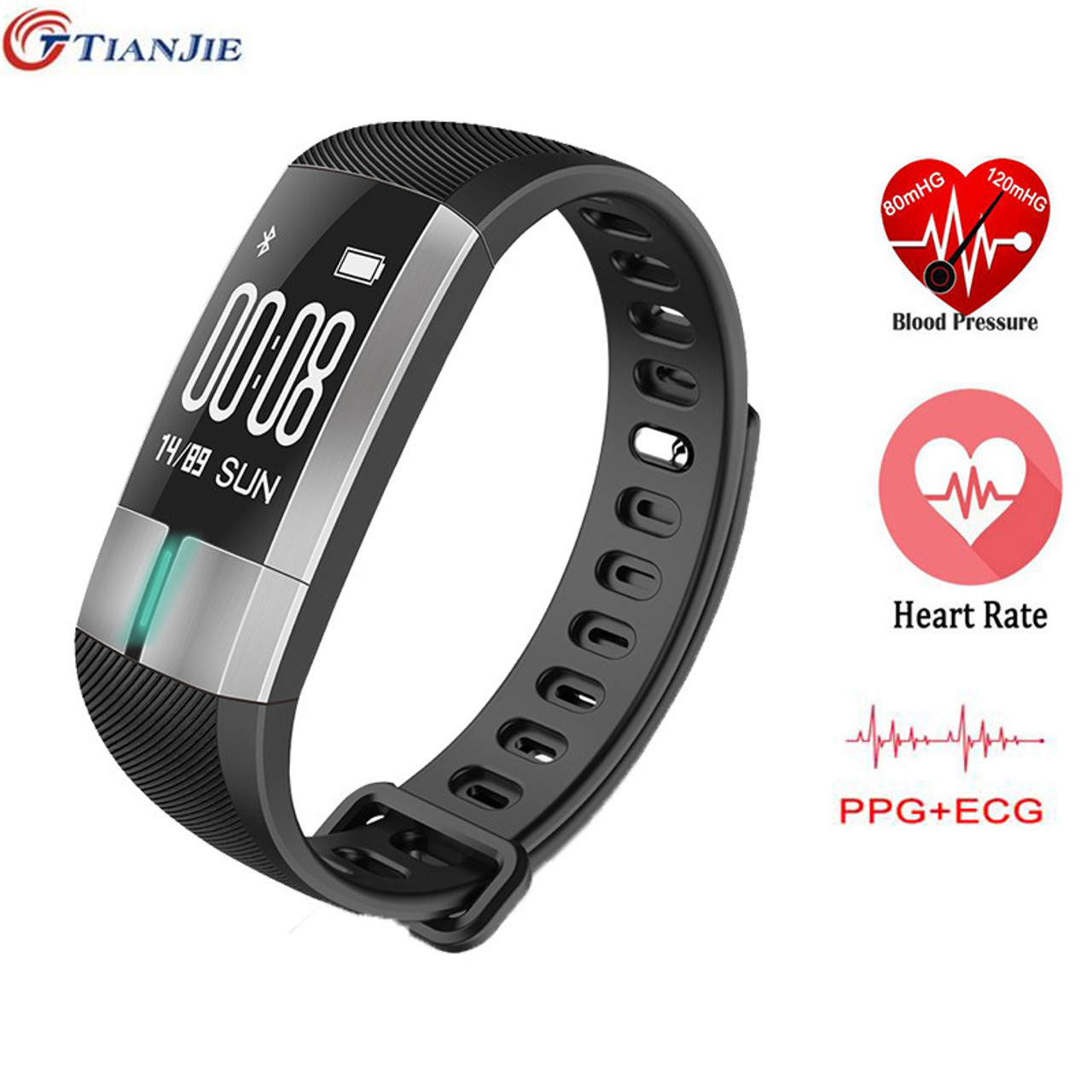 for bracelet ryasfan rate bluetooth watches monitor blood smart item pedometer ios pressure wristband fitness heart