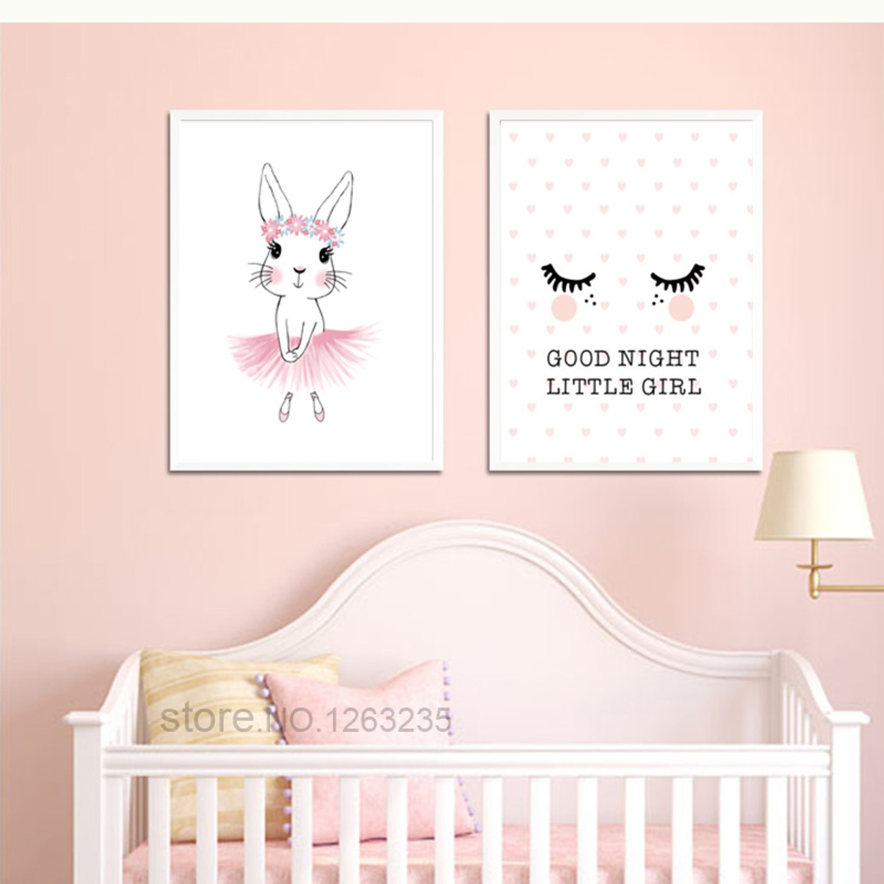 Exceptionnel Nordic Style Kids Decoration Girls Pink Posters And Prints Cartoon Baby Poster  Kids Room Wall Pictures ...