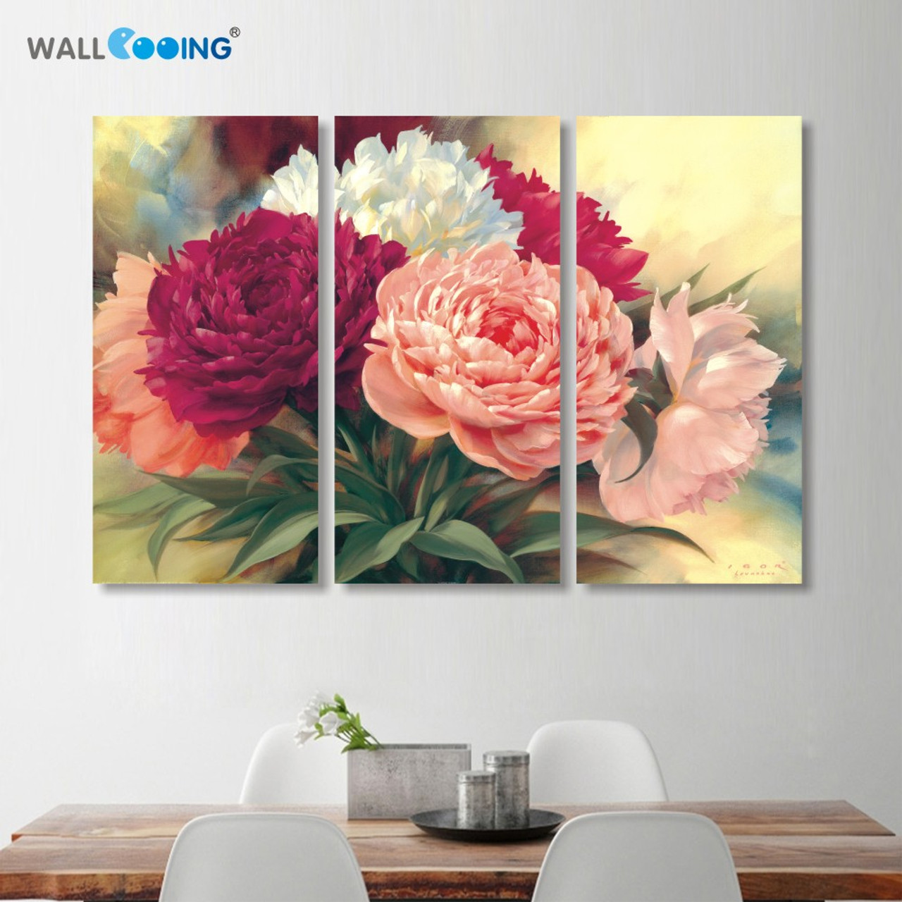Home decoration chinese peony flowers canvas painting wall art home decoration chinese peony flowers canvas painting wall art beautiful flower picture professional high definition izmirmasajfo