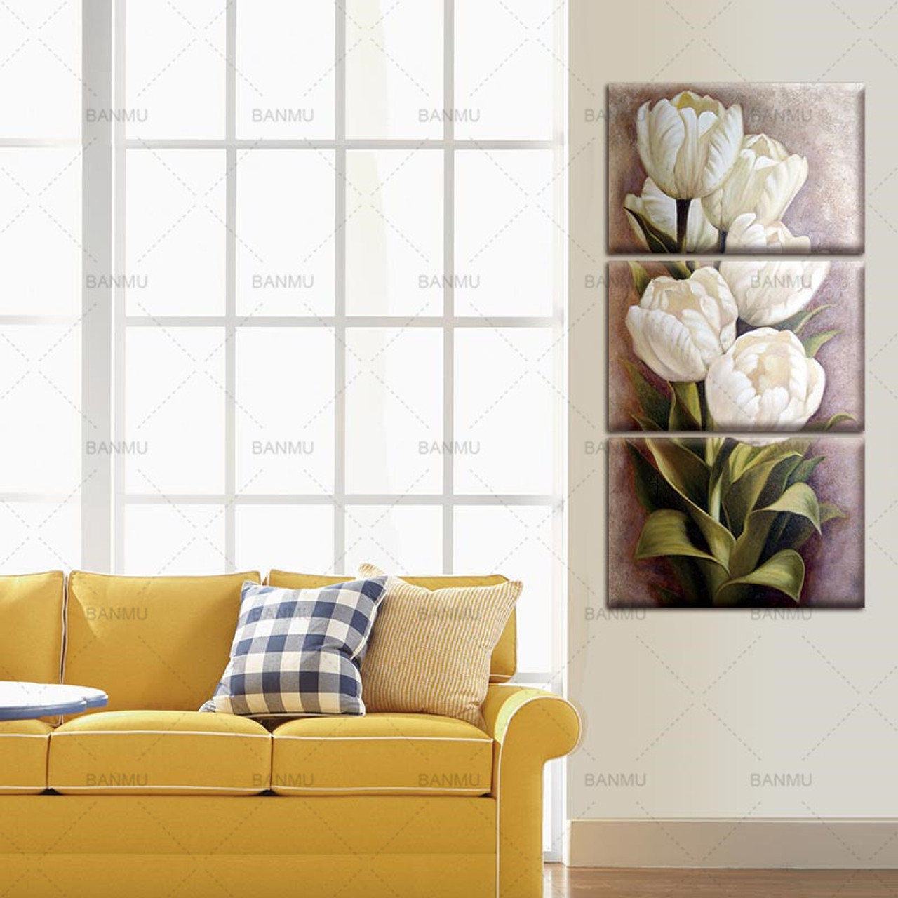 Tulips 3 Panels Wall Art Canvas Paintings Wall Decorations for Living Room Home Office Artwork Giclee323611524134066jpgcu003d2 tiny bedroom nook u0027a casarella tiny