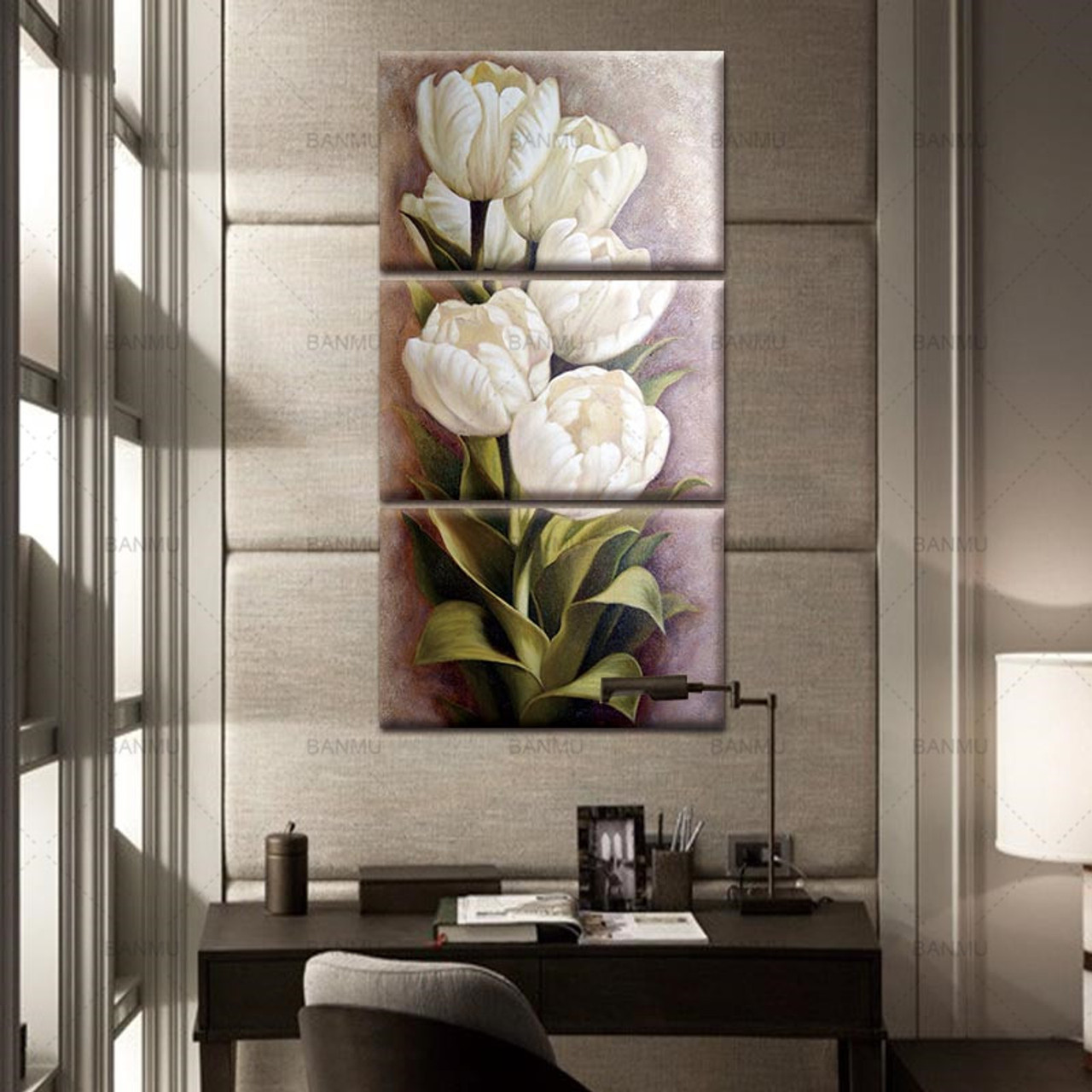 Tulips 3 Panels Wall Art Canvas Paintings Wall Decorations for Living Room Home Office Artwork Giclee303111524134070jpgcu003d2 tiny bedroom nook u0027a casarella tiny