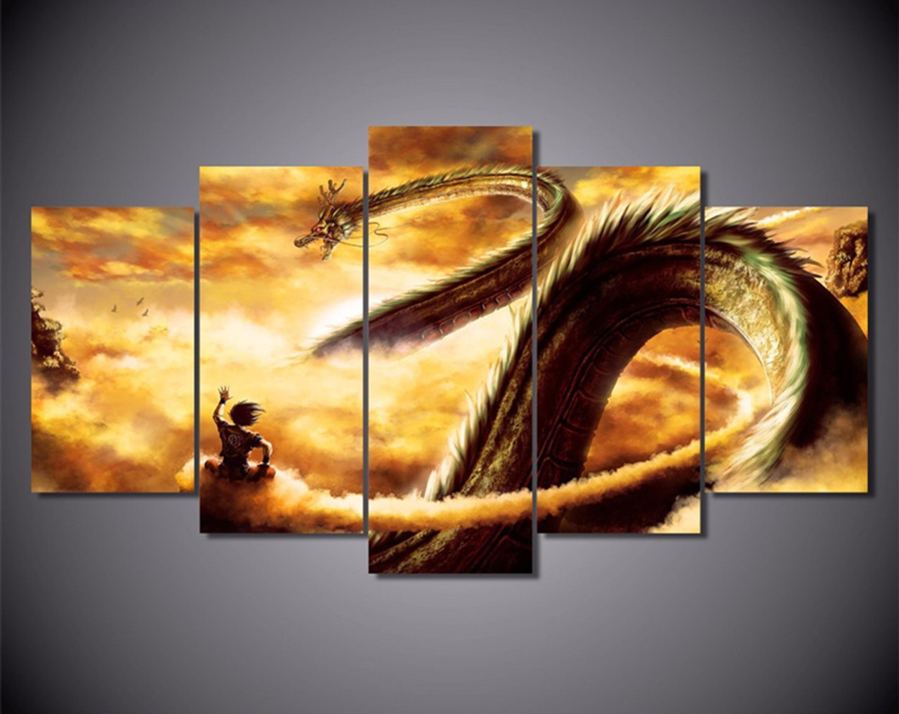 5 Piece Wall Art Canvas Painting Cartoon Dragon Ball Modular Art Picture For Living Room Posters ... & 5 Piece Wall Art Canvas Painting Cartoon Dragon Ball Modular Art ...