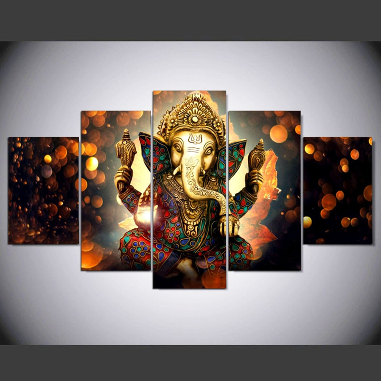 Canvas Painting Wall Art Home Decor For Living Room HD Prints 5 Pieces Elephant Trunk God ... & Canvas Painting Wall Art Home Decor For Living Room HD Prints 5 ...