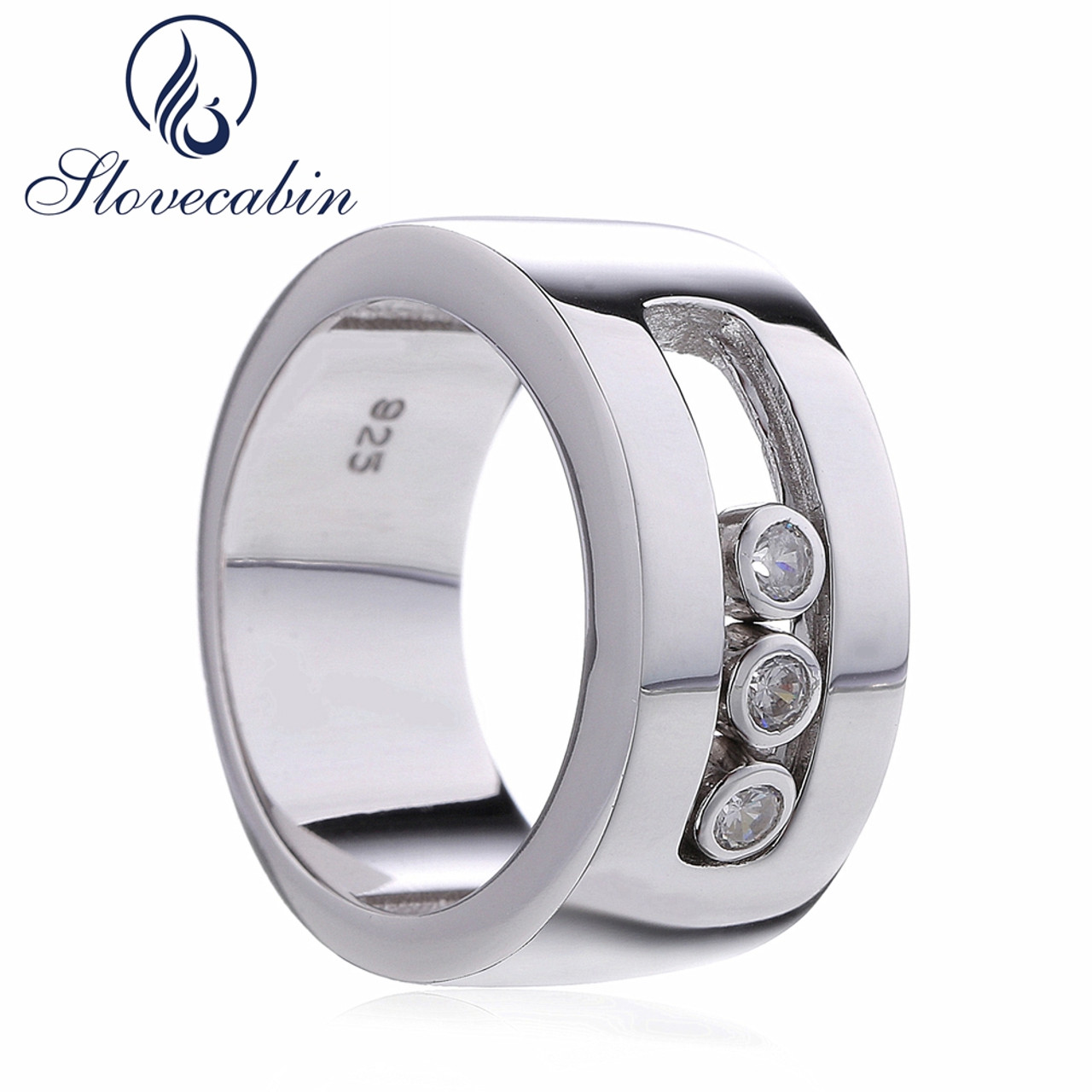 Slovecabin France Popular Jewelry 925 Sterling Silver Moved Wedding