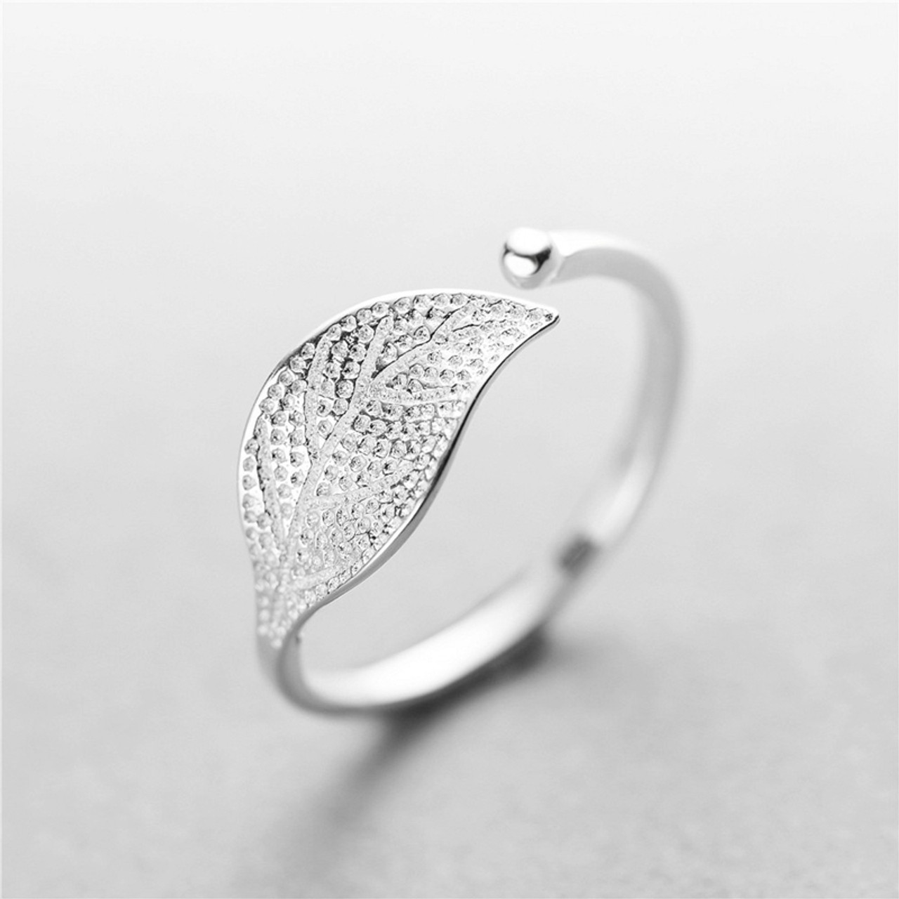 diamond vintage art antiqueart platinum engagement antique leaves nouveauvintage ring leaf nouveau media rings large no