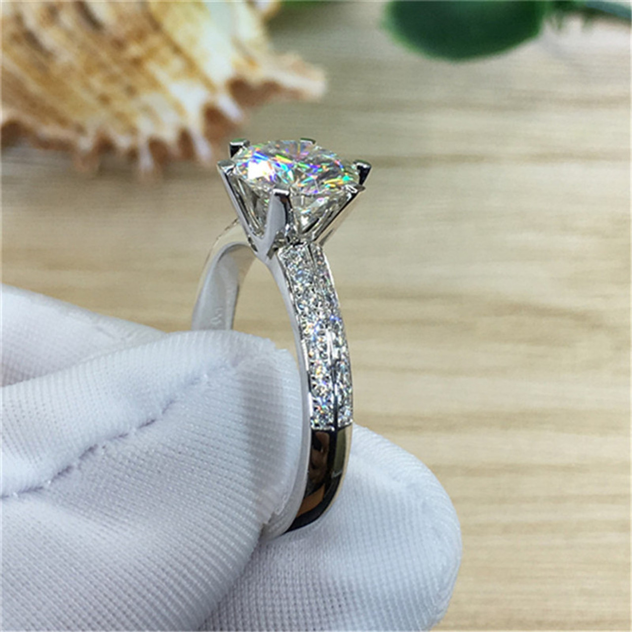 ct large cushion size oval wedding of ring diamond carat solitaire rings engagement cut round halo