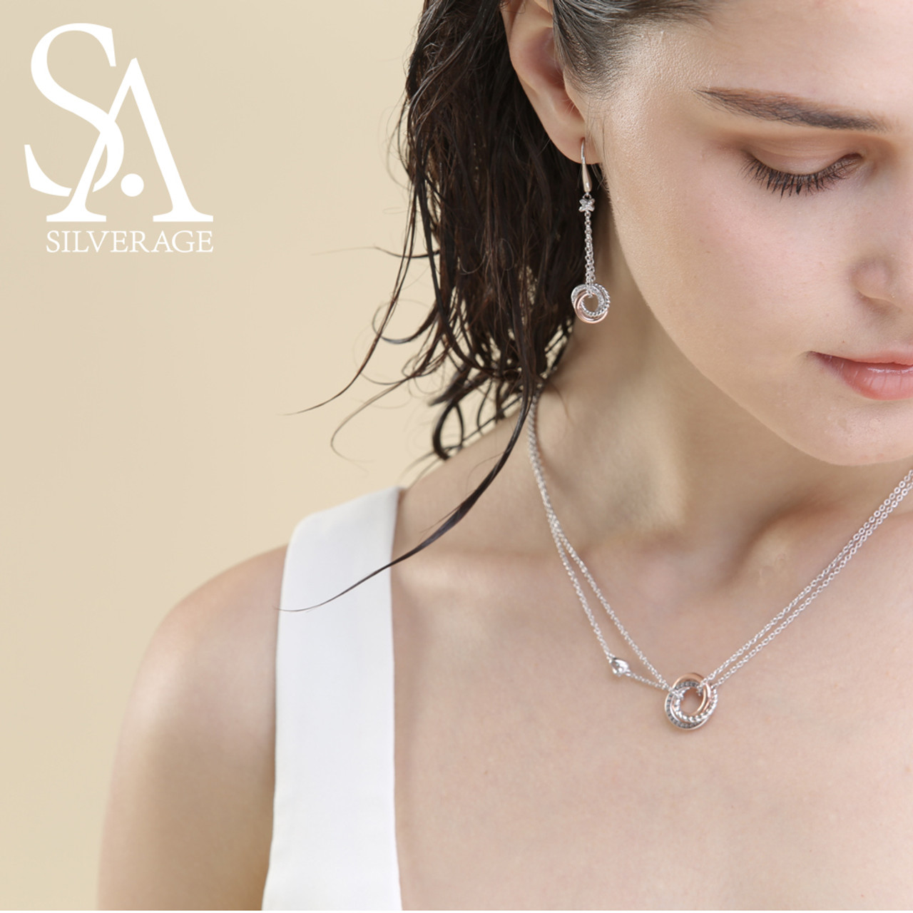 Sa silverage 925 sterling silver long necklaces pendants rose gold sa silverage 925 sterling silver long necklaces pendants rose gold color fine jewelry love 925 silver aloadofball Choice Image