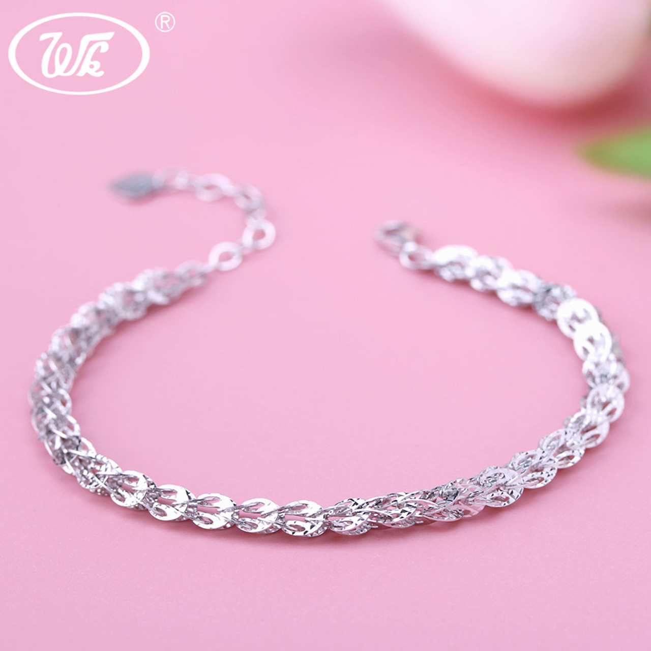 big fashion out beads silver size clasp link sterling cm bracelet lobster hollow color products chain