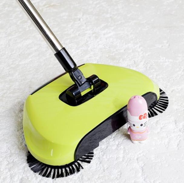 Stainless Steel Sweeping Machine Push Type Magic Broom Dustpan Handle Household Vacuum Cleaner Hand Sweeper
