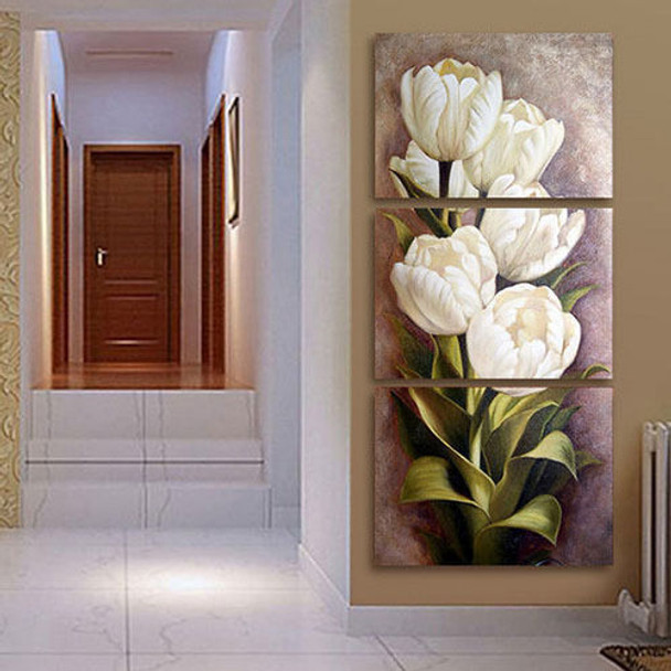 home office artwork. Tulips 3 Panels Wall Art Canvas Paintings Decorations For Living Room Home Office Artwork Giclee I