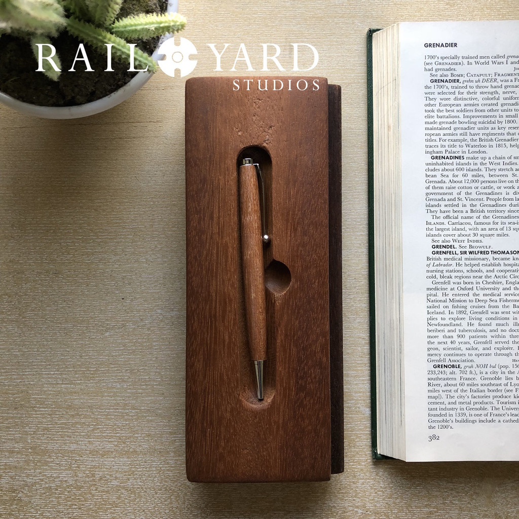 Reclaimed Railcar Flooring Ink Pens